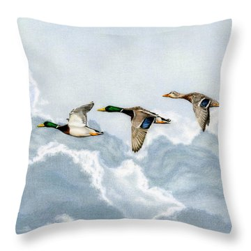 Flying South Throw Pillow