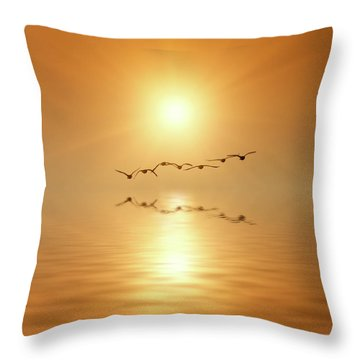 Flying South Throw Pillow by Wim Lanclus