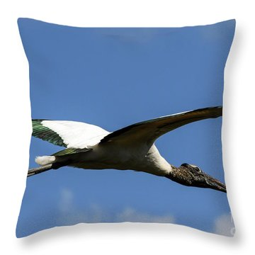 Flying Stork-no Baby Throw Pillow