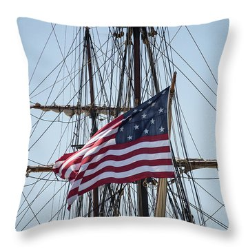 Throw Pillow featuring the photograph Flying The Flags by Dale Kincaid