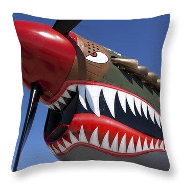 Flying Tiger Plane Throw Pillow