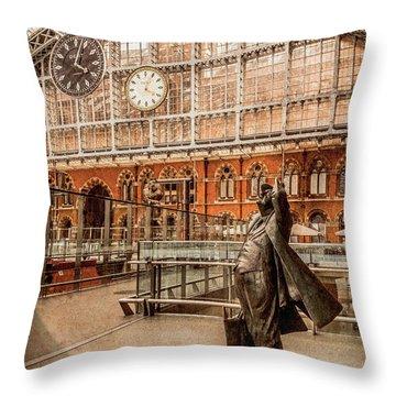 London, England - Flying Time Throw Pillow