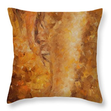Flying Up Throw Pillow by Leonid Afremov