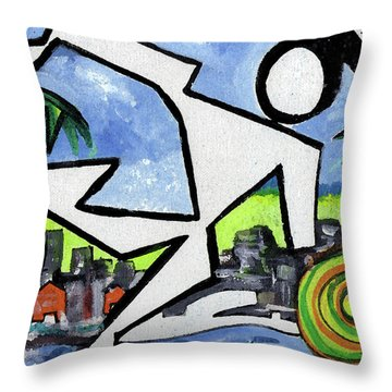 Flyingboyeee Throw Pillow by Jorge Delara