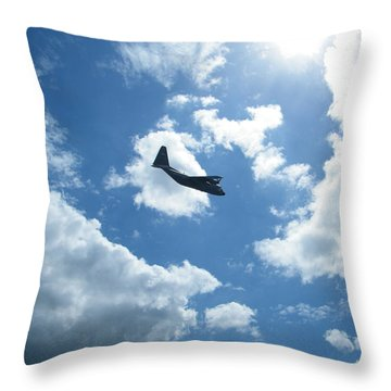 Flypast Throw Pillow