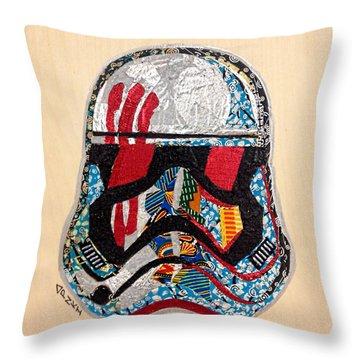 Storm Trooper Fn-2187 Helmet Star Wars Awakens Afrofuturist Collection Throw Pillow