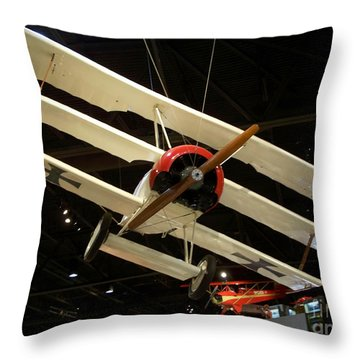 Focker Tri-plane Throw Pillow by Tommy Anderson