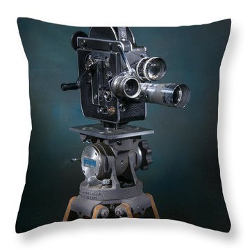 Focus In Blue Throw Pillow