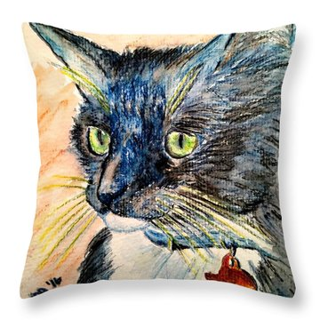 Focus Intent Throw Pillow