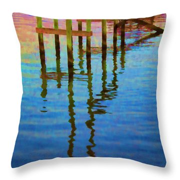Focus On The Water Throw Pillow