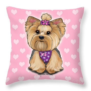 Fofa Hearts Throw Pillow