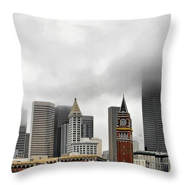 Fog Accents Of Seattle Wa Throw Pillow by Christine Till