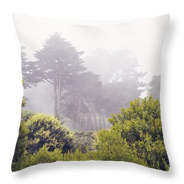Throw Pillow featuring the photograph Fog At Lands End by Cindy Garber Iverson