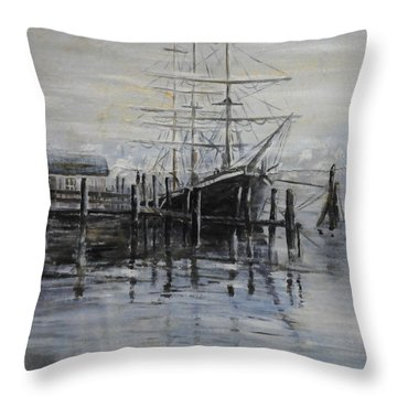 Fog Bound At Tillamok Throw Pillow