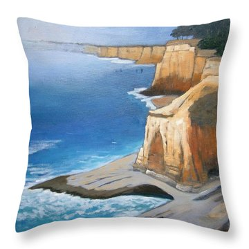 Throw Pillow featuring the painting Fog Burning Off by Gary Coleman
