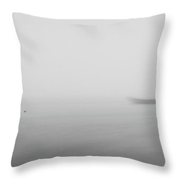 Throw Pillow featuring the photograph Fog Day 2 by Bruno Rosa
