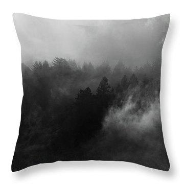 Fog Forest Throw Pillow