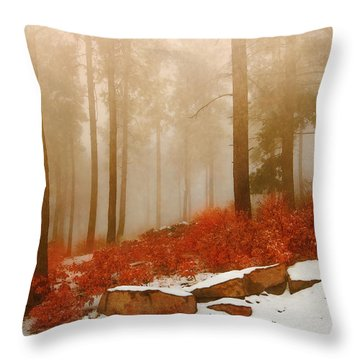 Fog II Throw Pillow