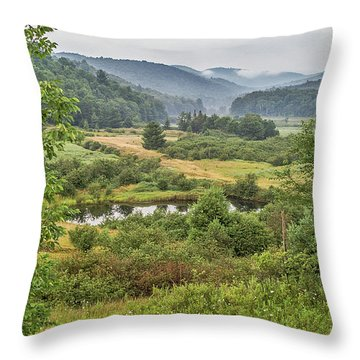 Throw Pillow featuring the photograph Fog In The Adirondacks by Sue Smith