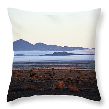 Fog In The Peloncillo Mountains Throw Pillow