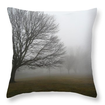 Fog Throw Pillow by John Scates