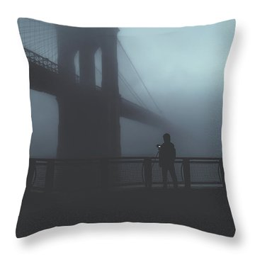 Fog Life  Throw Pillow by Anthony Fields
