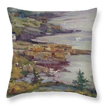 Fog Lifting Throw Pillow by Jane Thorpe