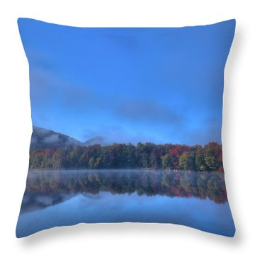 Throw Pillow featuring the photograph Fog Lifting On West Lake by David Patterson