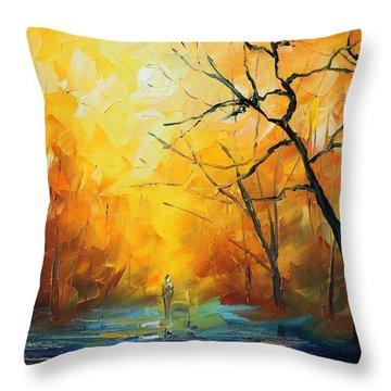 Fog New Throw Pillow by Leonid Afremov