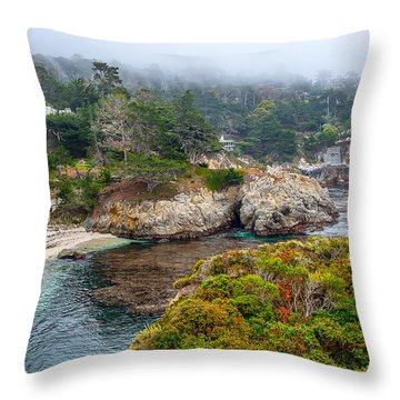 Fog On The Beach Throw Pillow