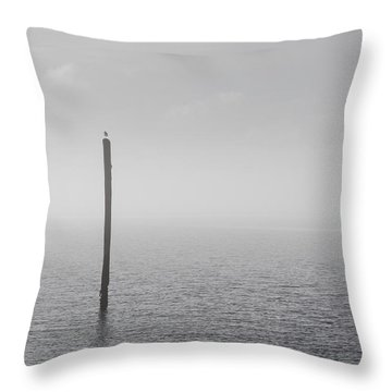 Throw Pillow featuring the photograph Fog On The Cape Fear River On Christmas Day 2015 by Willard Killough III