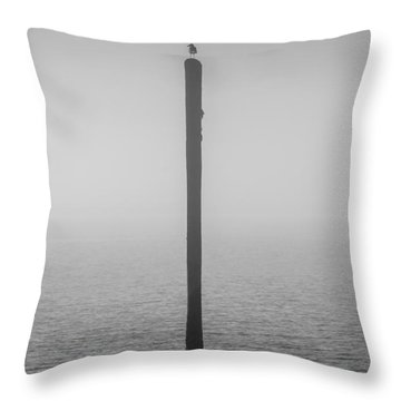 Throw Pillow featuring the photograph Fog On The Cape Fear River by Willard Killough III