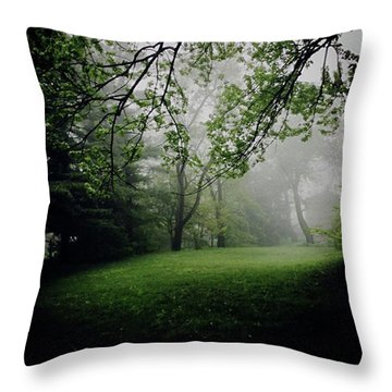 Fog On The Green Throw Pillow