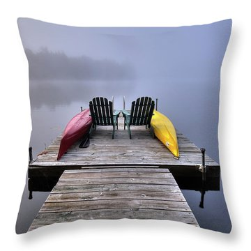Throw Pillow featuring the photograph Fog On West Lake by David Patterson