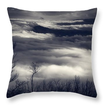 Fog Wave Throw Pillow