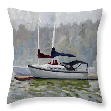 Fogged In Throw Pillow