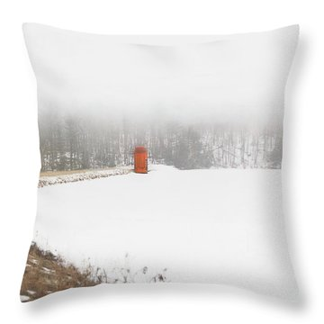 Throw Pillow featuring the digital art Fogged In by Sue Collura