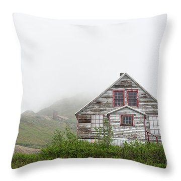Foggy And Abandoned Throw Pillow