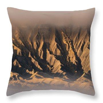 Foggy Butte Throw Pillow