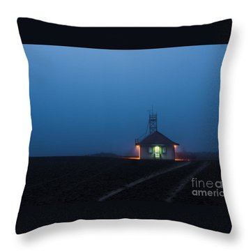 Foggy Dawn At Kew Beach Throw Pillow
