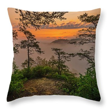 Foggy Dawn. Throw Pillow