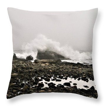 Foggy Day At The Coast Throw Pillow