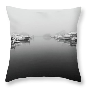 Foggy Day Banagher Throw Pillow