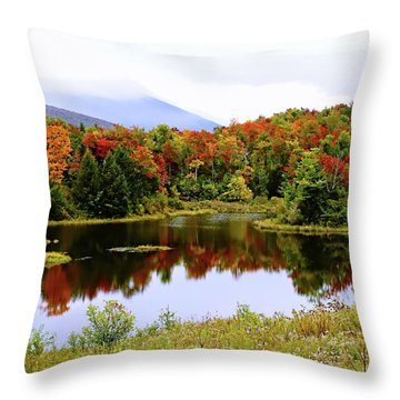 Foggy Day In Vermont Throw Pillow