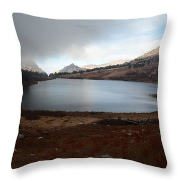 Foggy Favre Lake Throw Pillow