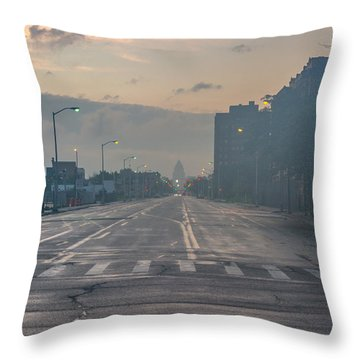 Foggy Fisher Color Throw Pillow