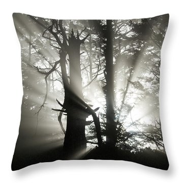 Foggy Flares Throw Pillow