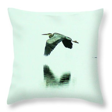 Foggy Flight, Low And Blind Throw Pillow