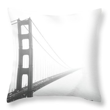 Throw Pillow featuring the photograph Foggy Golden Gate Bridge  by MGL Meiklejohn Graphics Licensing