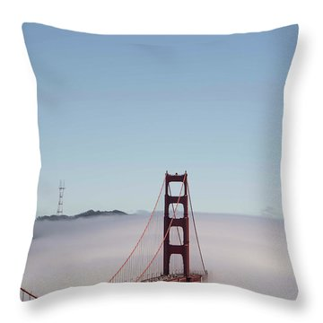 Throw Pillow featuring the photograph Foggy Golden Gate by David Bearden